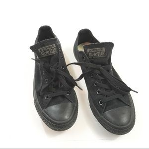 2529a0024668 Converse Shoes - Converse Monochromatic Black Low Top Sneakers
